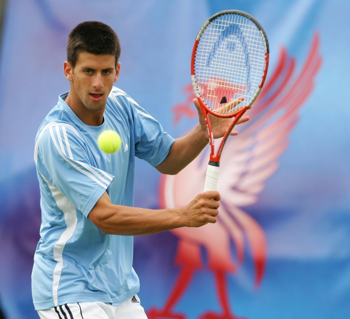 Tennis - Liverpool International Tennis Tournament - ATP Group A - Novak Djokovic v Jan-Frode Andersen