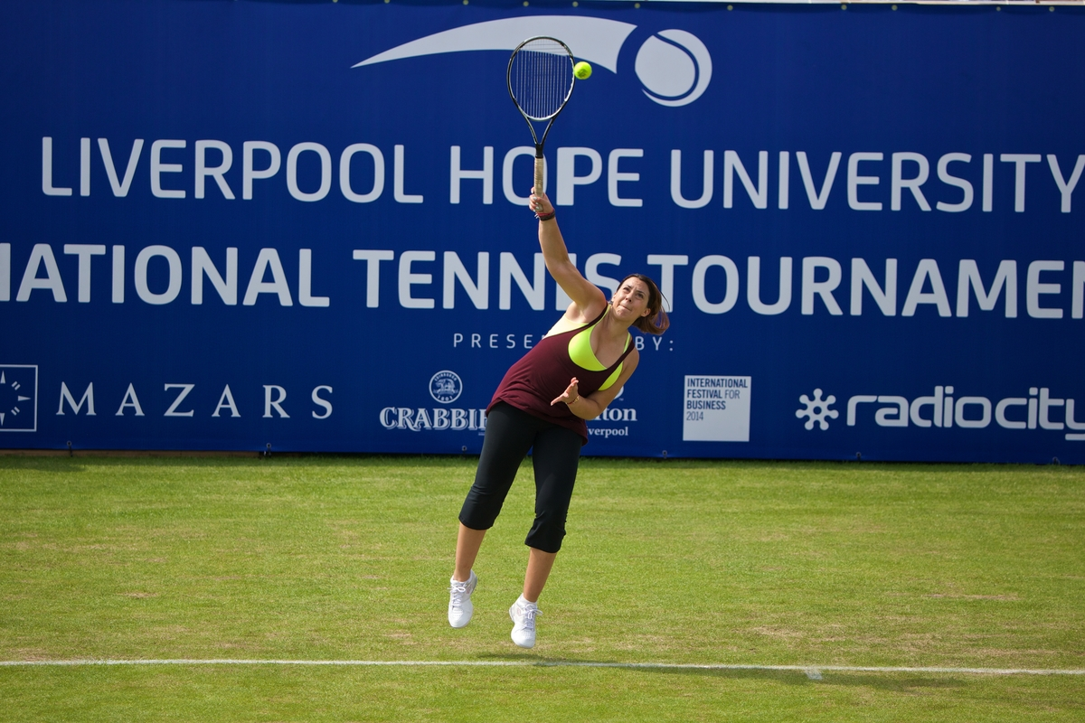 Tennis - Liverpool International Tennis Tournament 2014 - Day 1 - Marion Bartoli (FRA) v Jodie Burrage (GBR)